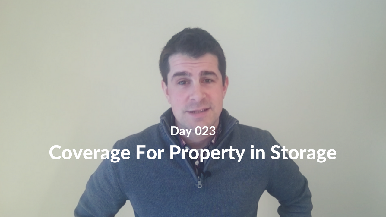 Coverage For Property in Storage